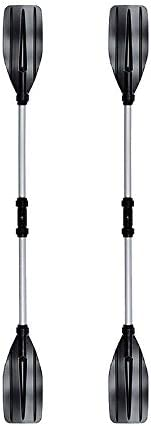 WOVELOT 1Pair Kayak Paddle Kayaking Boating Oar with Paddle Leash for Inflatable Boats