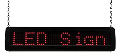 Lithonia SGNSCR M4 LED Scrolling Sign, Black/Red