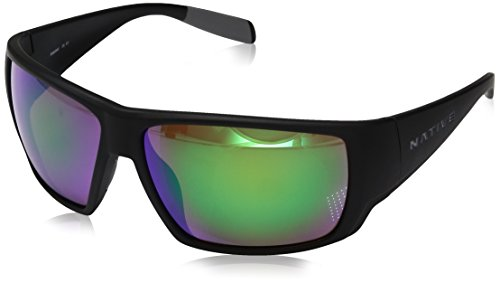 Native Eyewear Sightcaster, Matte Black, green - Fishing Smith Sunglasses