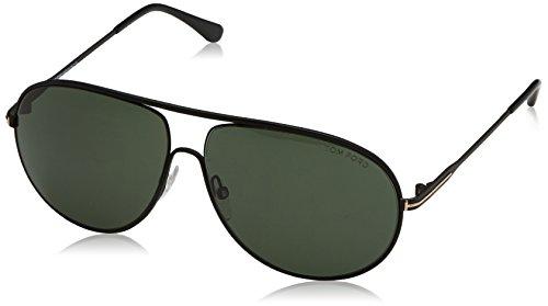 tom-ford-mens-cliff-tf450-02n-matte-black-green-aviator-sunglasses-61mm