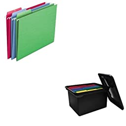 KITAVT34052SMD64031 - Value Kit - Smead Erasable FasTab Hanging Folders (SMD64031) and Advantus File Tote Storage Box w/Lid (AVT34052)
