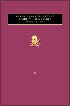 Book Bradley, Greg, Folger: Great Shakespeareans