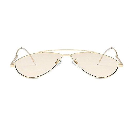 UV400 Couleur Protection Le Soleil de d'aviateur Red Lunettes Yxsd pour Beige Métal Cadre en l'homme avec de CFxO6q7nw7