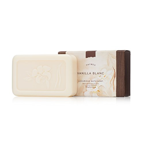 Thymes - Vanilla Blanc Luxurious Bath Soap - Naturally Conditioning Bar Soap with Moisturizing Shea Butter - 6 ounce