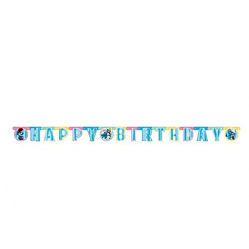 Smurfs 'Happy Birthday' Letter Banner