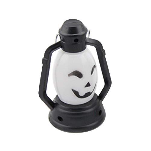 HEART SPEAKER Children Halloween Spirit Festival Pumpkin Ghost Lamp Hand Lantern Light Gift Multicolor Random -