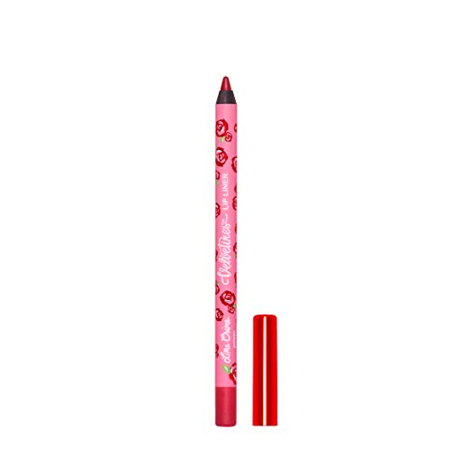Lime Crime Velvetines Lip Liner (Poison). Long Lasting Ruby Red Matte Lip Lining Pencil (0.042oz / 1.20 g)
