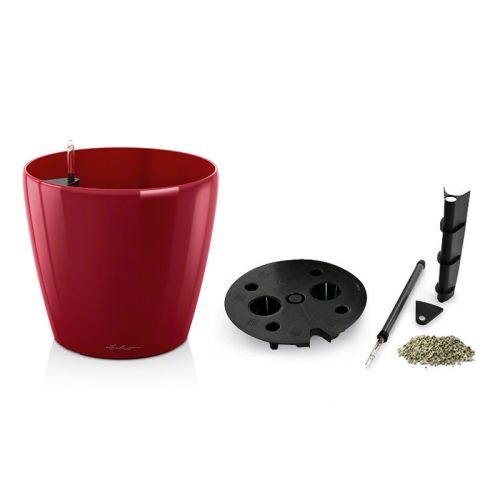 Lechuza EP-LCLA-RED-20 20 x 19 in. Classico Premium Planter44; Scarlet Red Gloss by Lechuza