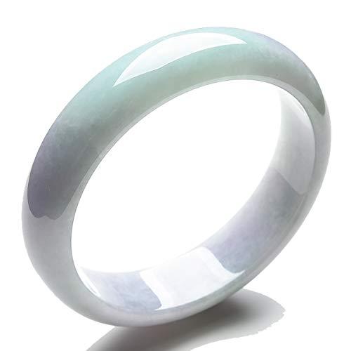 MPH-jewelry Natural Jadeite Jade Bangle Faint Lavender -58mm (Grade-A Jade)