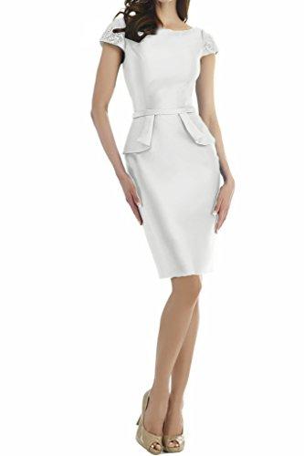 Missdressy - Vestido - Escotado por detrás - para mujer blanco