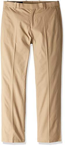 Perry Ellis Men's Slim Fit Travel Luxe Cotton Pant, Pale Khaki, 36W X 30L (Khaki Ellis Perry)