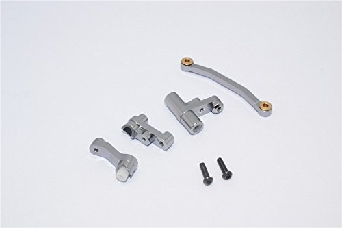 / SST / Teton Upgrade Parts Aluminum Steering Assembly - 1 Set Gray Silver (Gpm Steering Assembly)