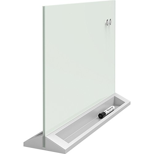 Quartet Desktop Glass Dry Erase Panel, Magnetic, 17'' x 23'', White (GDP1723W) by Quartet