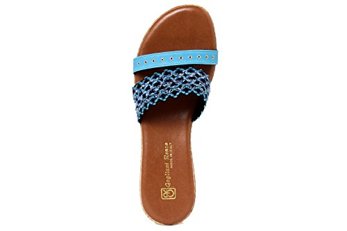 GAGLIANI RENZO - Sandalias de vestir de Material Sintético para mujer azul azul