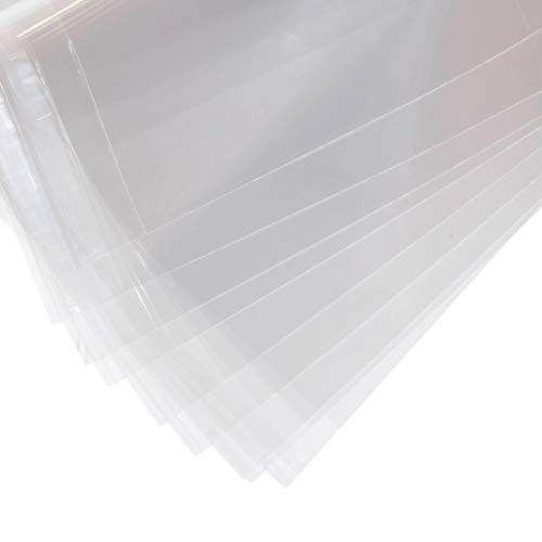 11 3/7'' x 14 3/8'' - 1.496mil (Single Side) Crystal Sealed Clear Bags for 11'' x 14'' Photots, Drawings, Papers, Printings, Artworks and more, Pack of 25