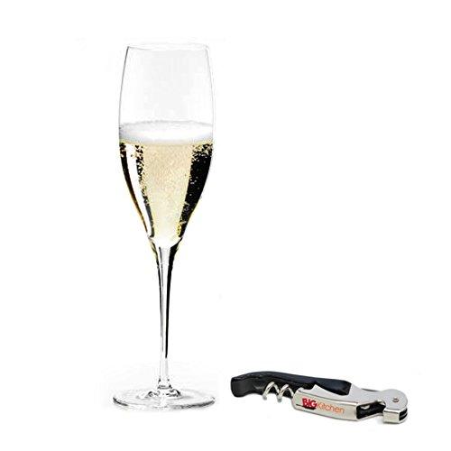 (Riedel Sommeliers Leaded Crystal Vintage Champagne Glass with Bonus BigKitchen Waiter's Corkscrew)