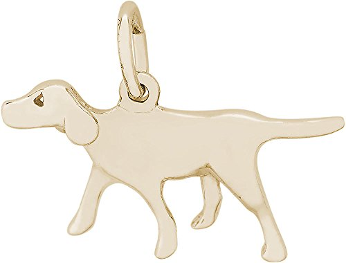 Rembrandt German Shorthaired Pointer Dog Charm - Metal - 14K Yellow Gold