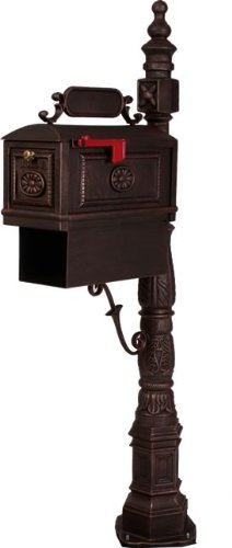 Victorian Barcelona Decorative Cast Aluminum Better Box Mailbox with Paper Box Bronze