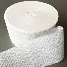 White Streamer (White Crepe Paper Streamers 2 Rolls 140 Foot)