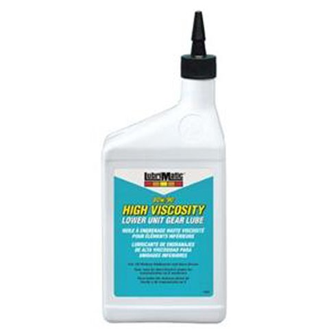 Lower Unit Gear Lubricant (LubriMatic 11552 High Viscosity 80w/90 Marine Lower Unit Gear Lube, 1 Quart Bottle)