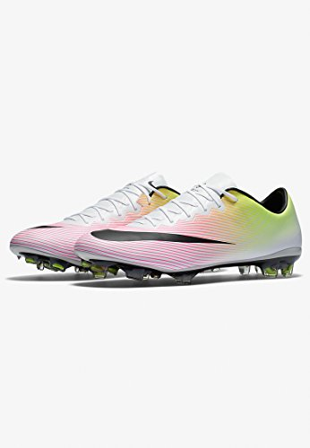 X Blanco volt Scarpe Calcio White Black da Uomo Orange Nike Mercurial total FG Blanco Vapor cAW71E