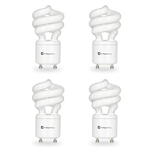 Compact Fluorescent Light Bulb T2 Spiral CFL, GU24 Base, 2700k Soft White, 13W (60 Watt Equivalent), 900 Lumens, 120V, UL Listed (4 Pack)