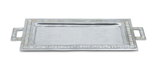 Julia Knight Classic Rectangular Tray with Handles, 25-Inch, Snow, (Julia Handle)