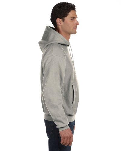 - Champion Adult Reverse Weave Hooded Pullover Fleece, Oxford Grey (78/22), Large