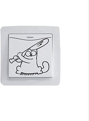 Simon Cat - Aufkleber für Lichtschalter