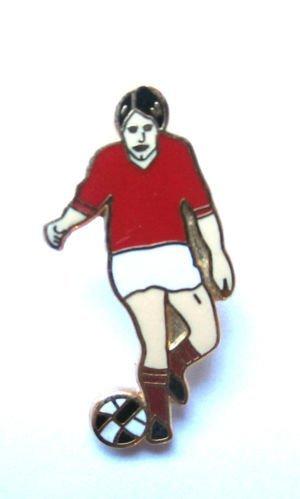 Nottingham Retro Pin Style Footballer's Notts Forest 1960's FwqFrO