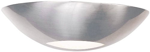 Triarch Lighting Sconce (Triarch 25651-BS Halogen Bathroom Light, Brushed Steel)