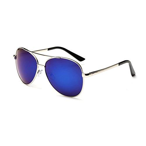 Azul Oro Polarizadas Hombre De Sol para De con Polarizadas Sol LBY Gafas de Metálica De Y Espejo Gafas Sol Gafas Sol Color Gafas para Mujeres Hombres De Montura Hombres Conducción UwFafwCq