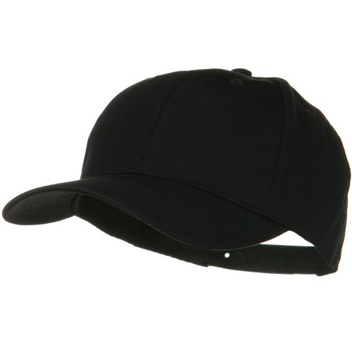 Solid Cotton Twill Low Profile Snap Cap - Black (Cap Solid Cotton)