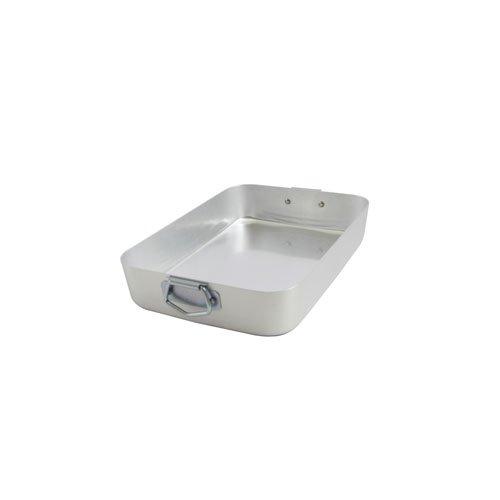 Ottinetti Famiglia Aluminum Rectangular Roasting Pan with Lid, Small/10.2 x 7'', Silver