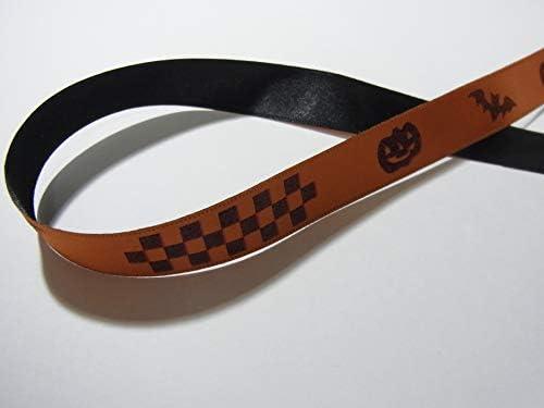 ハロウィン柄リボン 18mm巾x3mセット