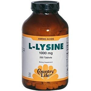 L-Lysine 1000mg W/B-6 100 Tablets from Country Life by Country Life (L-lysine 1000 Mg 100 Tablets)
