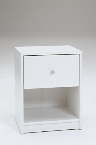 Tvilum 7033149 Portland 1 Drawer Nightstand, White by Tvilum