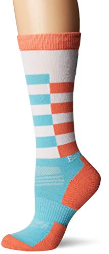 Browning Women's Birch Socks | Barber Stripe Blue Radience | Medium | One Pair ()