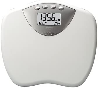 """Taylor 7315 Lithium Digital Weight Management Scale with Jumbo 2"""" LCD Display"""