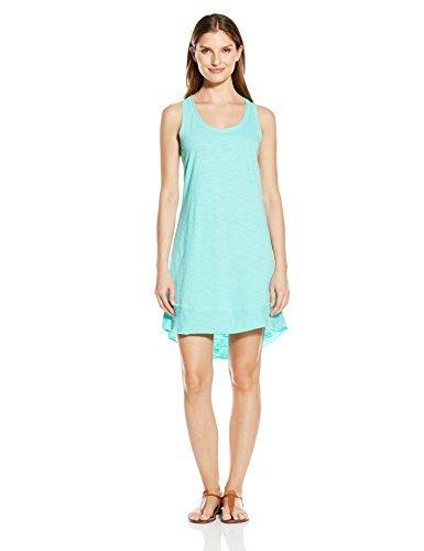 Life is Good Women's Elliptical Tank Dress, Small, Cool Aqua (Pants Good Lounge Is Life)
