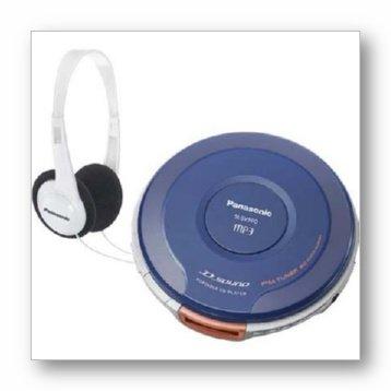 Panasonic SL-SV590 Portable CD Player and Headphones (Blue/White)