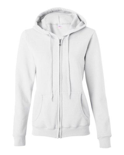 Gildan Heavy Blend� Ladies' 8 oz.; 50/50 Full-Zip Hood - WHITE - XL