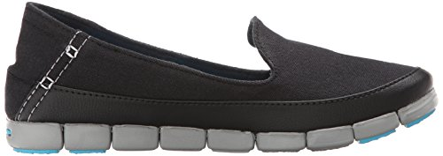 Light plana Stretchsoleskimmerw Crocs Grey Black qwT6xM0MYt