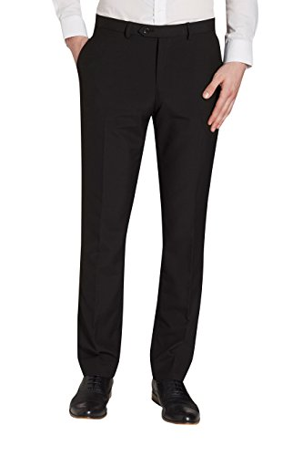 next Homme Pantalon sans pinces Noir 42 / Regular - Slim Fit