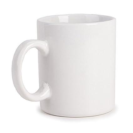 2fc8e8c05f Amazon.com: Darice 20 oz Coffee Mug, White (2453-25): Arts, Crafts & Sewing