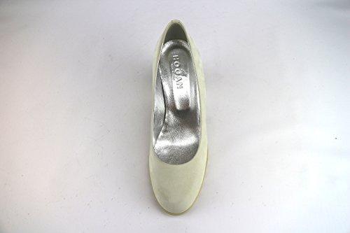 Hogan 36 EU Zapatos de Salón Mujer Beige Cuero de Ante AH669