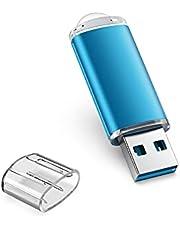 TOPESEL 128GB USB 3.0 Flash Drive High Speed 128G Thumb Drive Memory Stick Jump Drive 128G USB Drive Zip Drive for PC laptops, Tablets, TVs, car Audio(Blue)