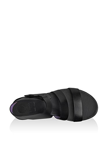Fitflop Gladdie Tm Sandal - Sandalias de cuña Mujer Negro