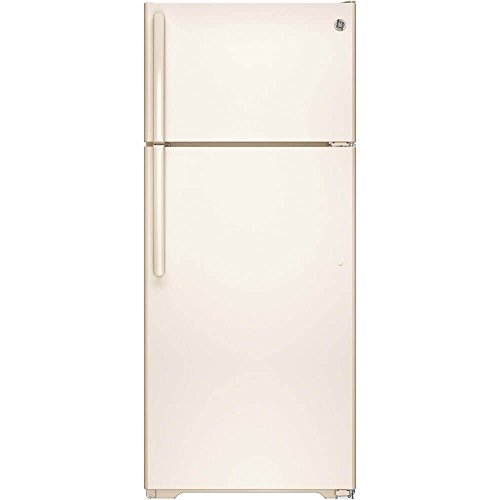 GE GIE18GTHCC 17.5 Cu. Ft. Bisque Top Freezer Refrigerato...