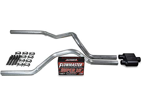 Truck Exhaust Kits - Shop Line dual exhaust system 2.5 AL pipe Flowmaster Super 10